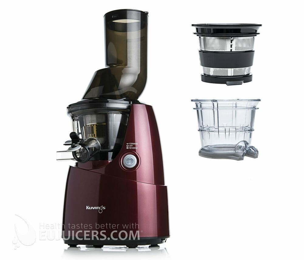 Sokovnik Kuvings Whole Slow Juicer B6000 rde? + dodatni nastavki EUJUICERS.SI